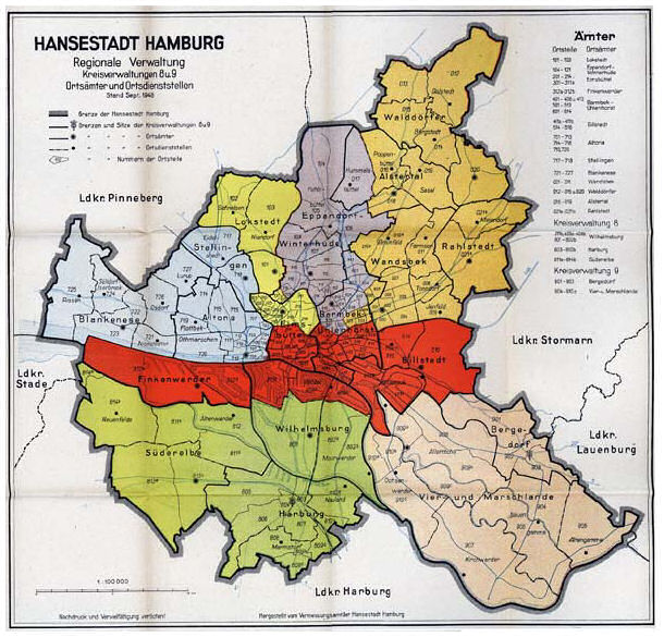 Feuersturm Hamburg Karte